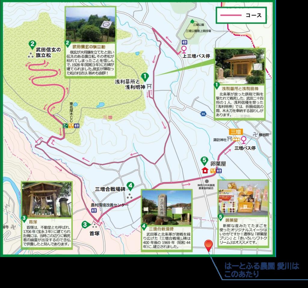 愛川町歴史散策ハイキングマップ